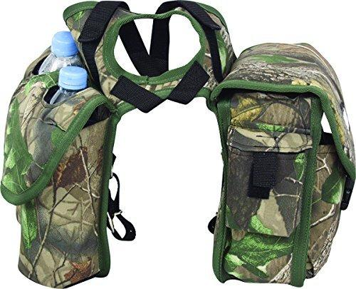 Cashel Quality Deluxe Medium Horse Saddle Pommel Horn Bag, Insulated Padded Pockets, Two Water Bottle Pockets, Camera or Cell Phone Pocket, 600 Denier Material, Size: Medium Color: Camo