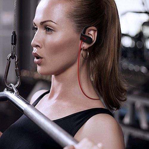 Wireless Headphones Bluetooth Earbuds - APANAGE Bluetooth Headphones Waterproof IPX7 Headphones with Mic, HD Stereo Sweatproof Sports In-ear Earbuds for Running and Workout, 8 Hour Battery CVC6.0 Noise Cancelling Headsets