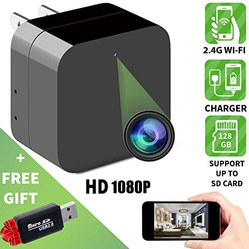 Spy camera - Hidden camera - APP Remote View - HD 1080P - Wifi camera - Wireless camera - Surveillance camera - Mini spy camera - Usb camera - Nanny camera - Best Spy camera charger - IMPROVED 2018