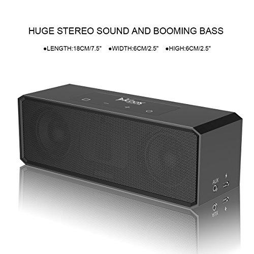 Premium Stereo Bluetooth Speaker with Carrying Bag,Two Passive Subwoofers, HD with Portable Wireless Speaker for iPhone, iPad, Nexus and More