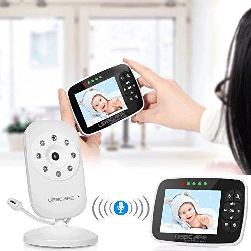 """Ubbcare Digital Video Baby Monitor with 3.5/"""" screen Temperature Night Vision"""