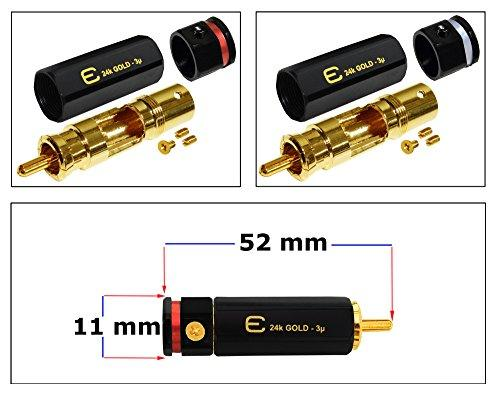 Star-Quad Gotham GAC-4//1 Black Audio Interconnect Cable with Premium Gold plated Locking RCA Connectors Directional 1.5 Foot RCA Cable Pair CUSTOM MADE By WORLDS BEST CABLES.