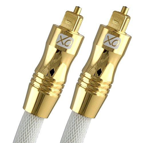 XO 9.8 feet Ultra High Resolution Professional Digital Optical TOSlink Cable - 24k Gold Casing - Compatible with PS3,Sky HD, HDtvs, Blu-rays, AV Amps for best Digital Surround Sound