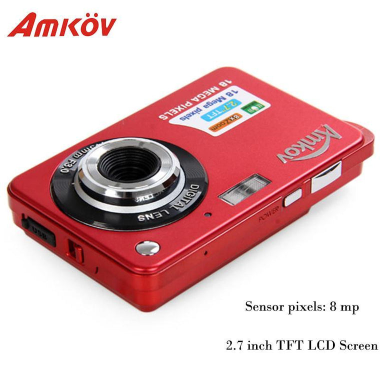 Amkov AMK-CDC3 Cameras Digital Cameras 2.7'' TFT 8mp 9.5 * 6 * 2cm Support Direct Print Mini Photo Camera HD Camera