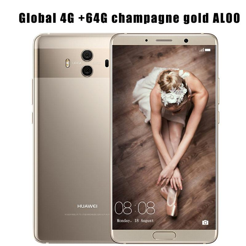 Global Firmware Huawei Mate 10 Cell phones Android 8 0 3D Curved Glass  5 9