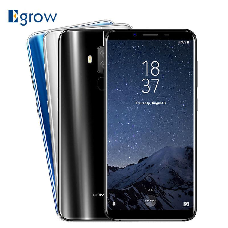 HOMTOM S8 16MP+5MP Dual Back Camera Moblie Phone MTK6750T Octa Core Cell Phones 5.7\