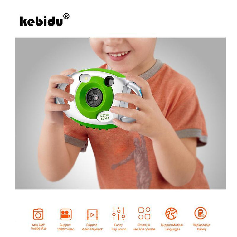 Kebidu Original Mini Kid 5MP HD Projection Digital Cameras Fashion Cute Neck Photography Video Camera Fine Gift for Child