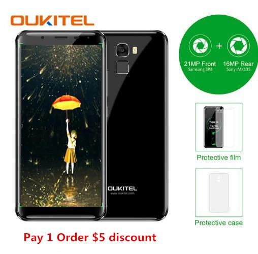 Oukitel K5000 4G LTE 5000mAh 4GB+64GB MTK6750 Octa Core 13MP+16MP Mobile Cellphone 5.7