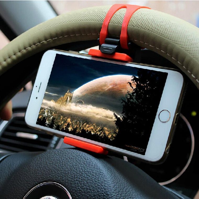 Universal Car Phone Holder Steering Wheel Mount holder For Iphone 6/6s plus Car Kit Holder For Samsung S6/S5 Phone Accessories
