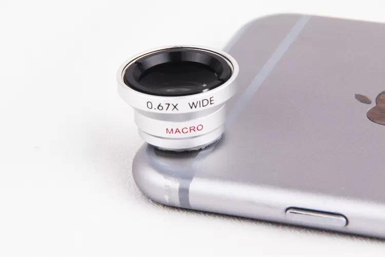 Universal Magnetic 2in1 0.67X Wide Angle Macro Lens Microscope Mobile Phone Camera Lenses For iPhone 5s 6 6s 7 8 Plus Smartphone
