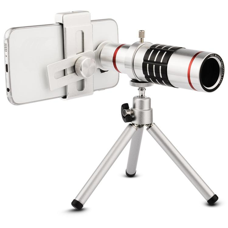 Universal Phone Camera Lenses 18x Zoom Phone Lens Optical Telescope Telephoto With Tripod For Samsung Xiaomi iphone 5 6 6s 7 8