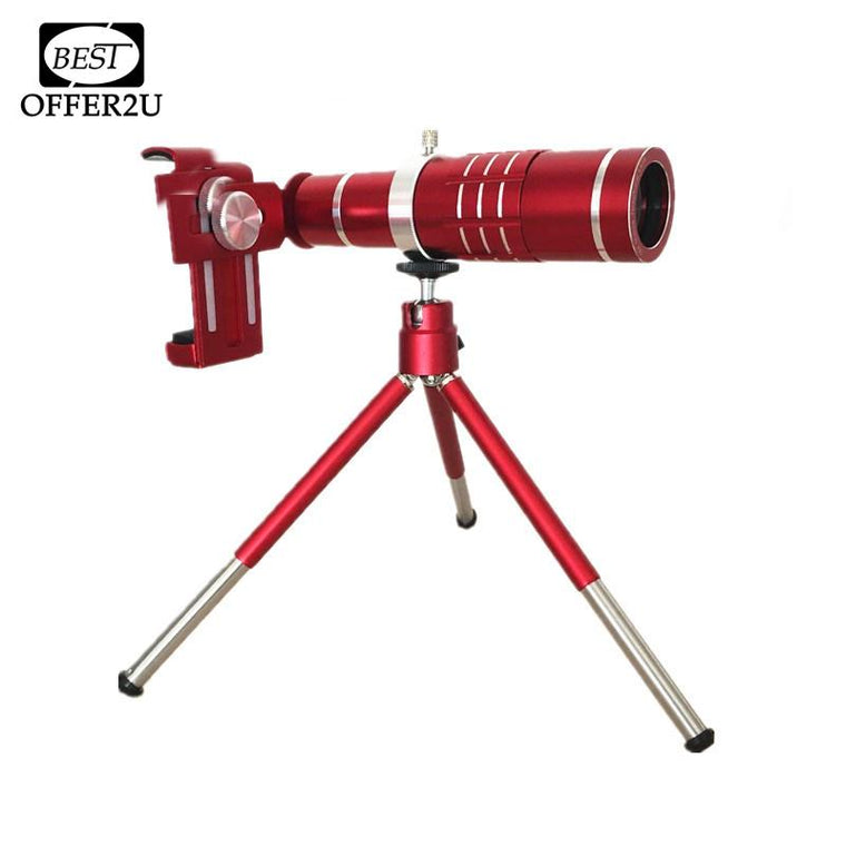 Universal Red 18X Optical Phone Camera Lenses Telescope Lens Telephoto Zoom Lentes For iPhone 4 4s 5 5s 5c SE 6 6s 7 Plus