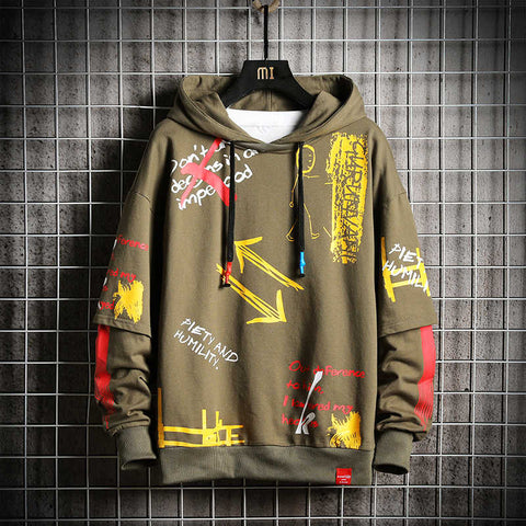 Oversized Army Green Japanese Streetwear