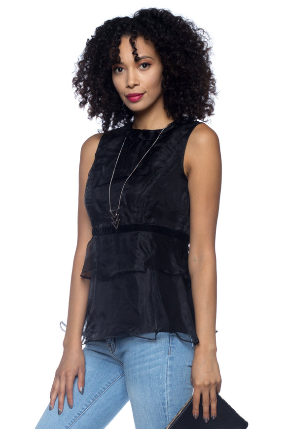 Women's Ruffle Tank Top Blouse