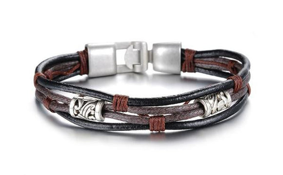 Handmade Genuine Leather Men's Bracelet