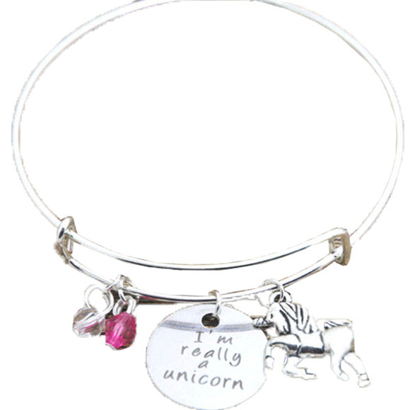 I'm Really A Unicorn Charm Bangle