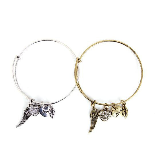 Angel Love Charm Bangle