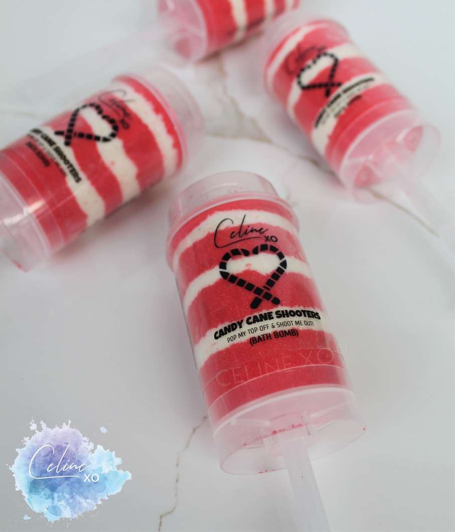 Candy Cane Shooter Bath Bomb-Celine XO