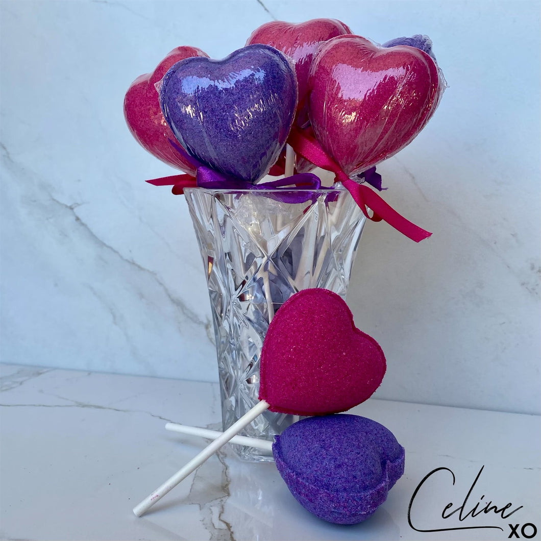 Heart Lollipop Bath Bomb-Celine XO