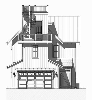 Beach Walk Residential House Plan SketchPad House Plans