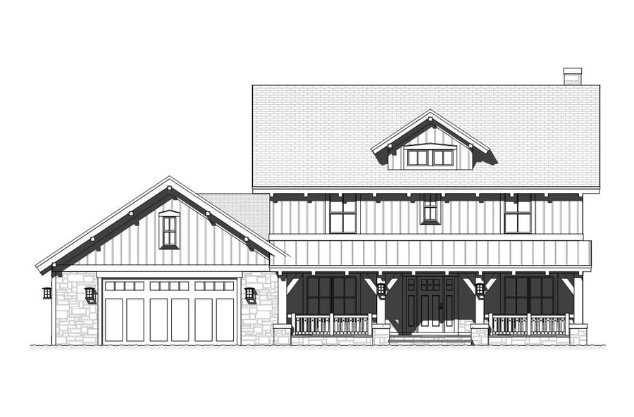 Elmwood Residential House Plan SketchPad House Plans