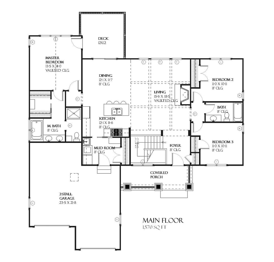 Lilac Residential House Plan SketchPad House Plans