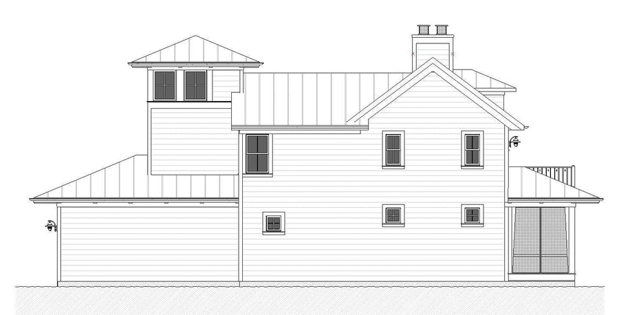 Savannah Residential House Plan SketchPad House Plans
