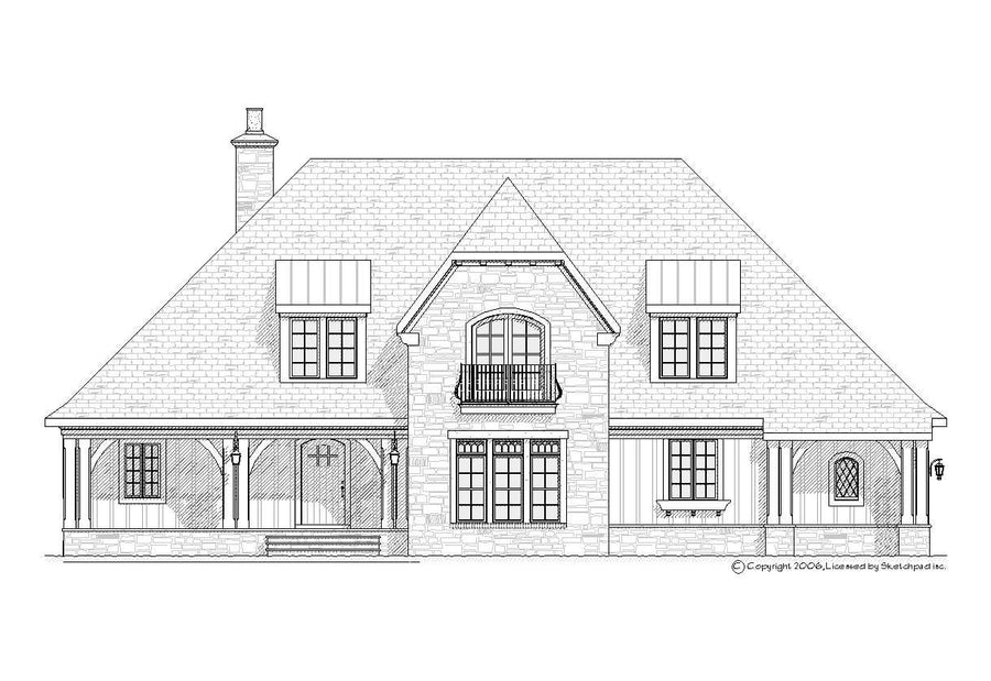 Storybook Residential House Plan SketchPad House Plans