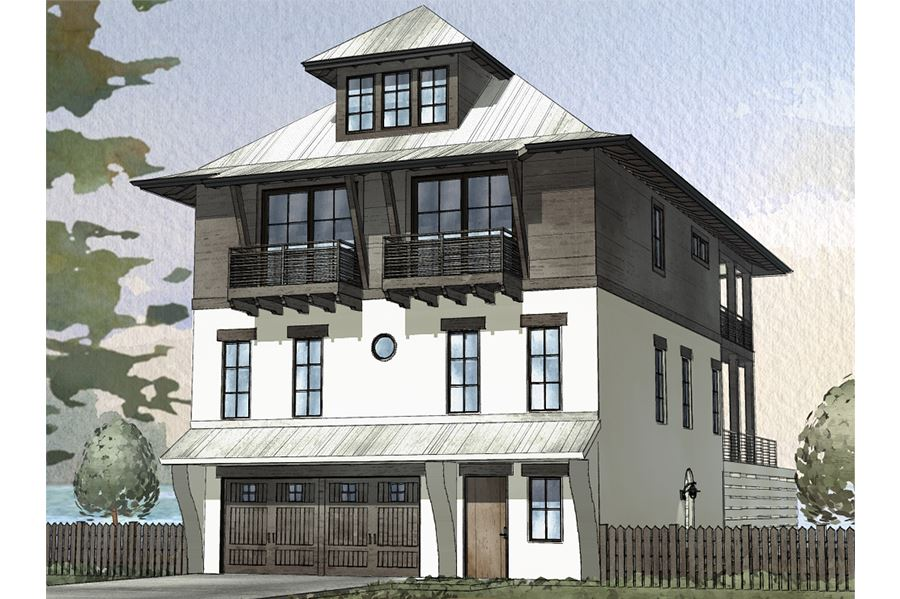 Watersound Residential House Plan SketchPad House Plans