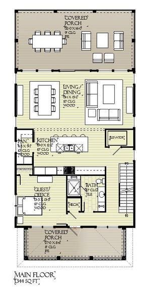 Oyster Cove Residential House Plan SketchPad House Plans