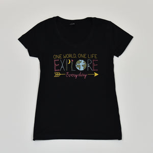 womens outdoor adventure graphic t shirt | explore every day