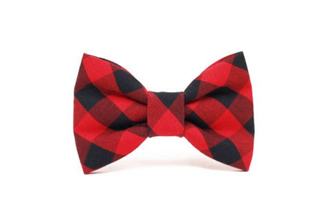 Dog Bow Tie- Buffalo Plaid