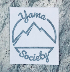 Yama Society Die-Cut Sticker (Black)