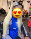 six - 13 blonde Bundles ( straight & body wave)