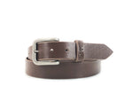 "Williamson Classic Leather Belt - 1.25"" Chocolate"
