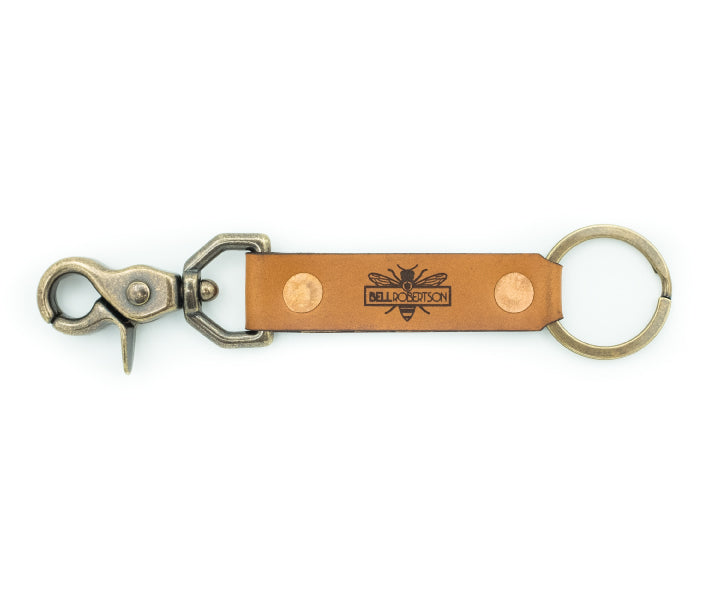 Leather Key Snap - Tan