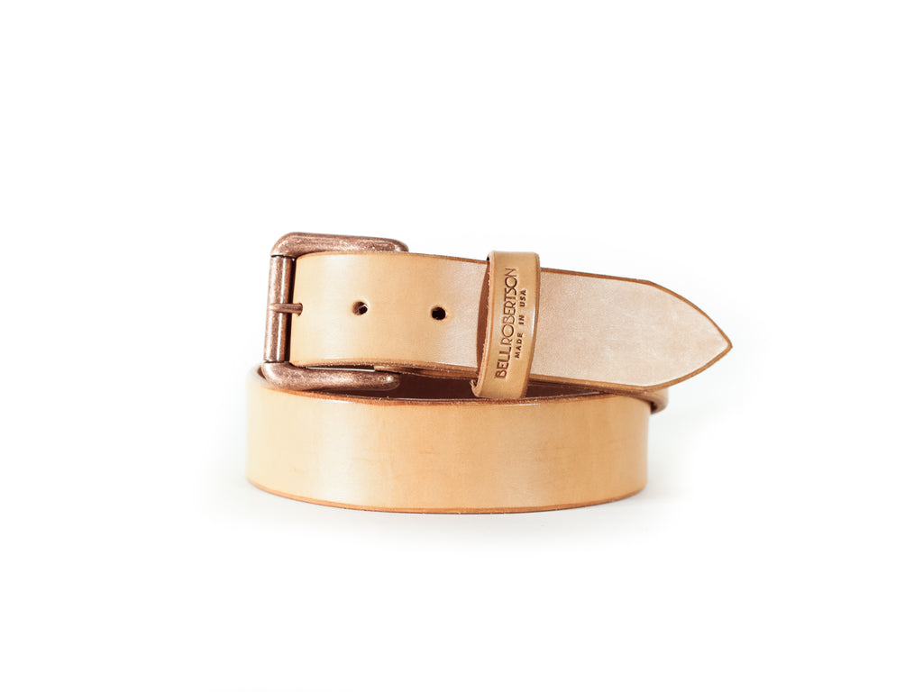"Henderson Leather Belt 1.5"" - Natural"