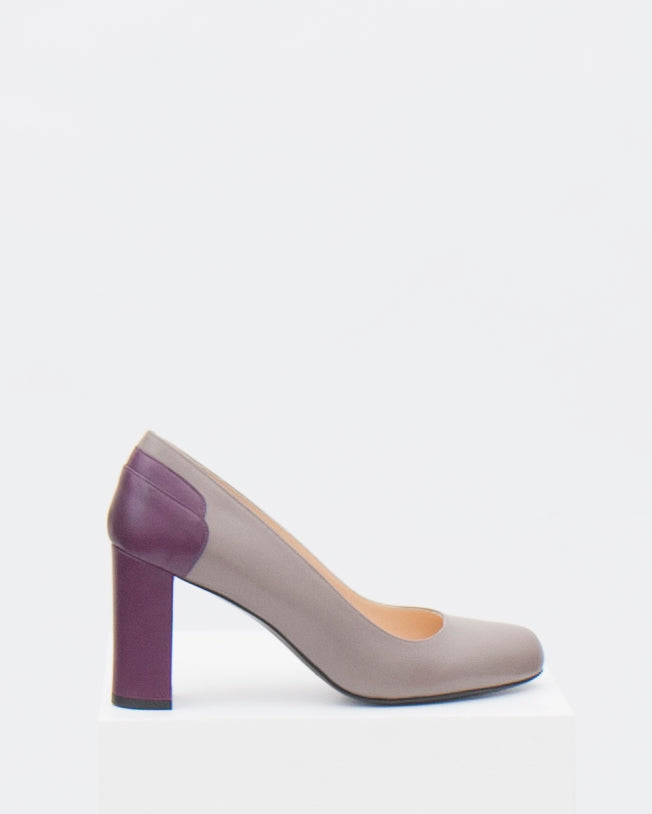 size 39.5 - Ophelia with 8cm block heel & oval toe