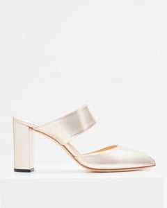size 41 (40.5) - Carine with 8cm block heel and pointed toe