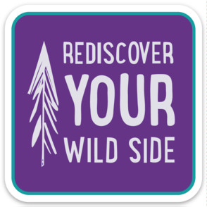 Rediscover Your Wild Side Sticker - Purple