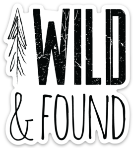 Wild and Found Logo Sticker