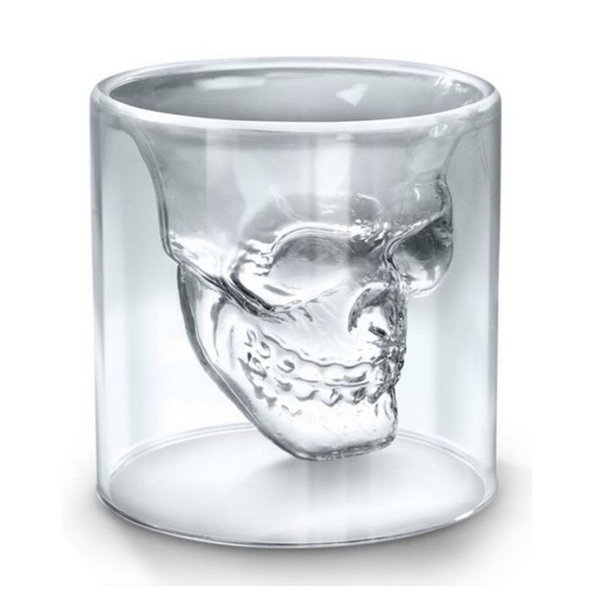 Skull Double Wall Glass Cup
