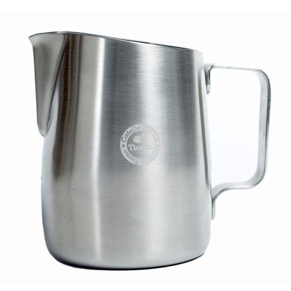 Tiamo Tapered Brushed Stainless Milk Jug