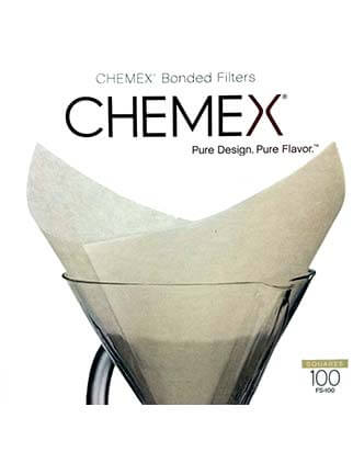 Chemex 6 Cup Square Filters, 100PK- Oxygen Bleached
