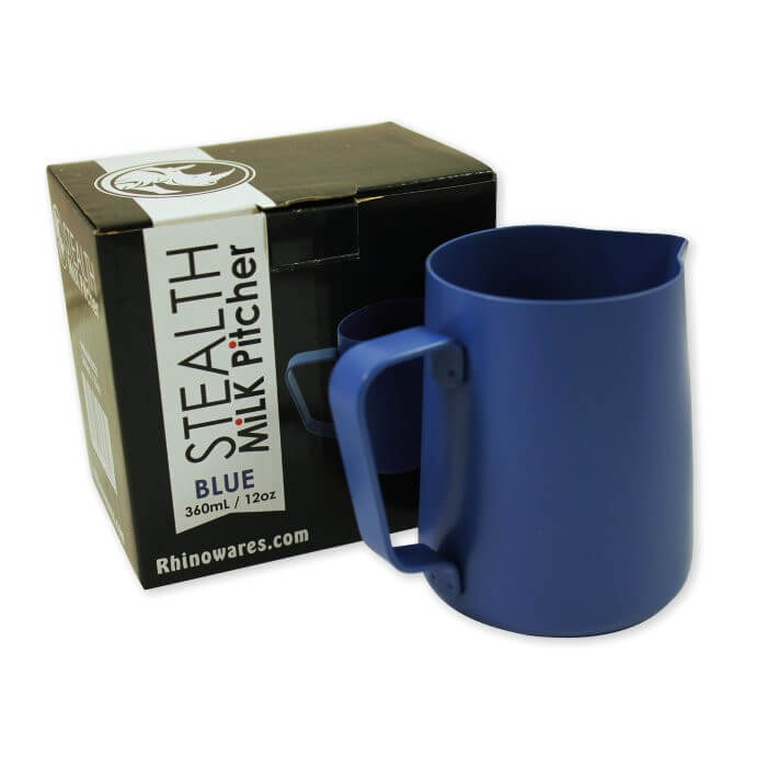Rhinowares Stealth Milk Jug - 360ml/12oz - Blue