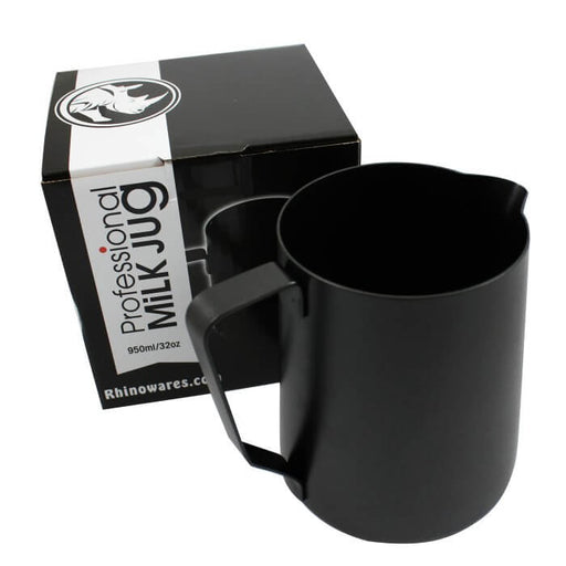 Rhinowares Stealth Milk Pitcher – 950ml/32oz – Black