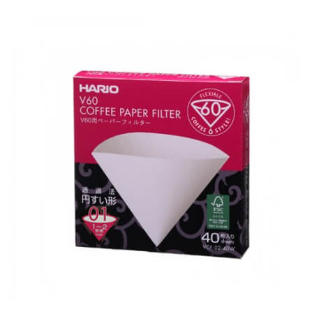 V60 1 CUP (40PCS) WHITE PAPERS RETAIL