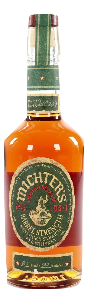 Michter's US*1 Barrel Strength Rye 2015 108.4 Proof
