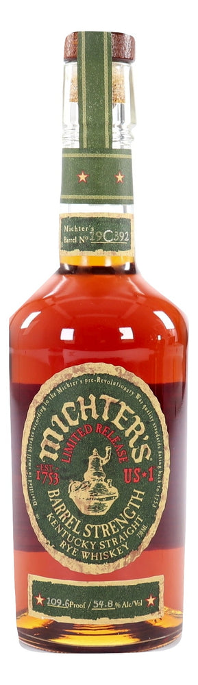 Michter's US*1 Barrel Strength Rye 2019 109.6 Proof