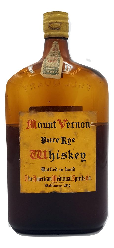 Mount Vernon Pure Rye For Sale - NativeSpiritsOnline